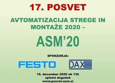 Posvet AVTOMATIZACIJA STREGE IN MONTAŽE 2020 – ASM '20